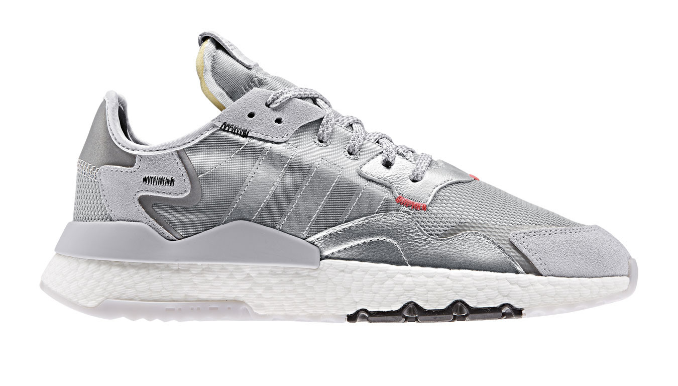 adidas nite jogger bianche