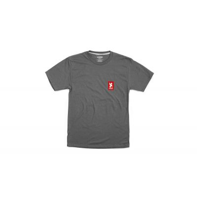 Chrome Industries Vertical Red Logo Tee