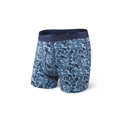 Saxx Platinum Boxer Brief Blue Jungle Jam