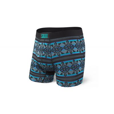 Saxx Vibe Boxer Brief Black Geo