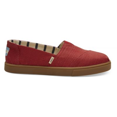 Toms Red Canvas Women's Cupsole Alpargatas